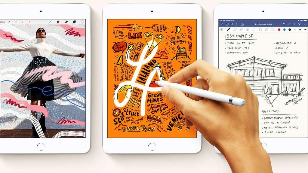 Les deux nouveaux iPad sont compatibles avec le stylet Apple, mais de première génération et vendu à part. © Apple