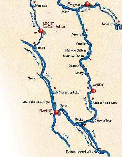 canal de briare carte Le Canal de Briare | Dossier