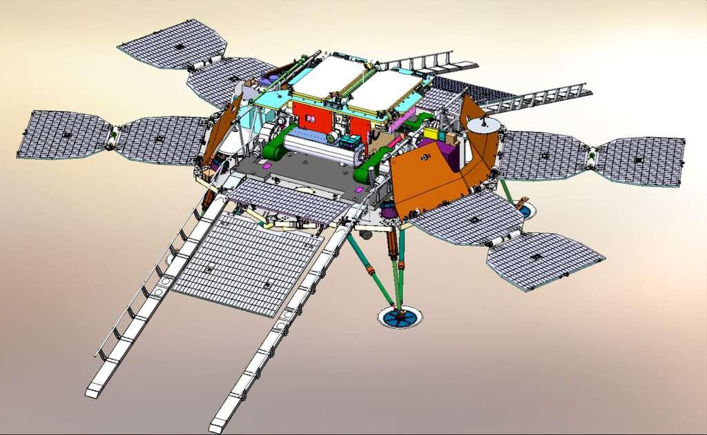 Bien qu'avec ExoMars 2016, l'Esa posera un atterrisseur sur Mars, cette compétence ne sera d'aucune utilité en 2021. Cette technologie ne sera en effet pas utilisée sur le rover d'ExoMars 2018. C'est l'Agence spatiale russe Roscosmos qui fournira cet atterrisseur, qui devrait se poser sur Oxia Planum au début de l'année 2021.© Roscosmos, Lavochkin, IKI