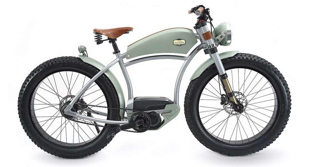 Le look vintage de l'Heritage a été peaufiné dans les moindres détails. © Ateliers Heritagebike