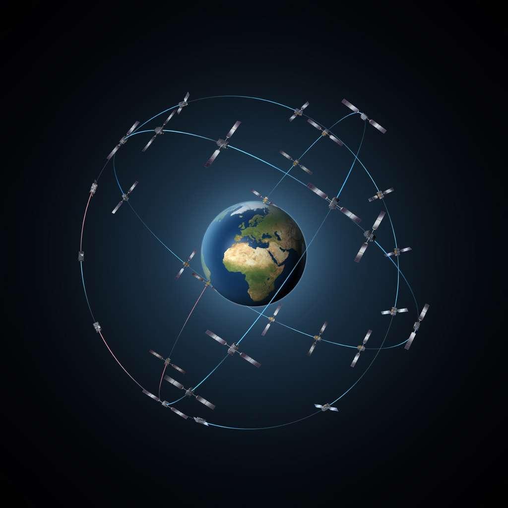 À court terme, les constellations de satellites sont amenées à se généraliser. Cette multiplication risque de causer des problèmes liés à la sécurité des activités spatiales (collisions, débris spatiaux et gestion des satellites en fin de vie). © Esa