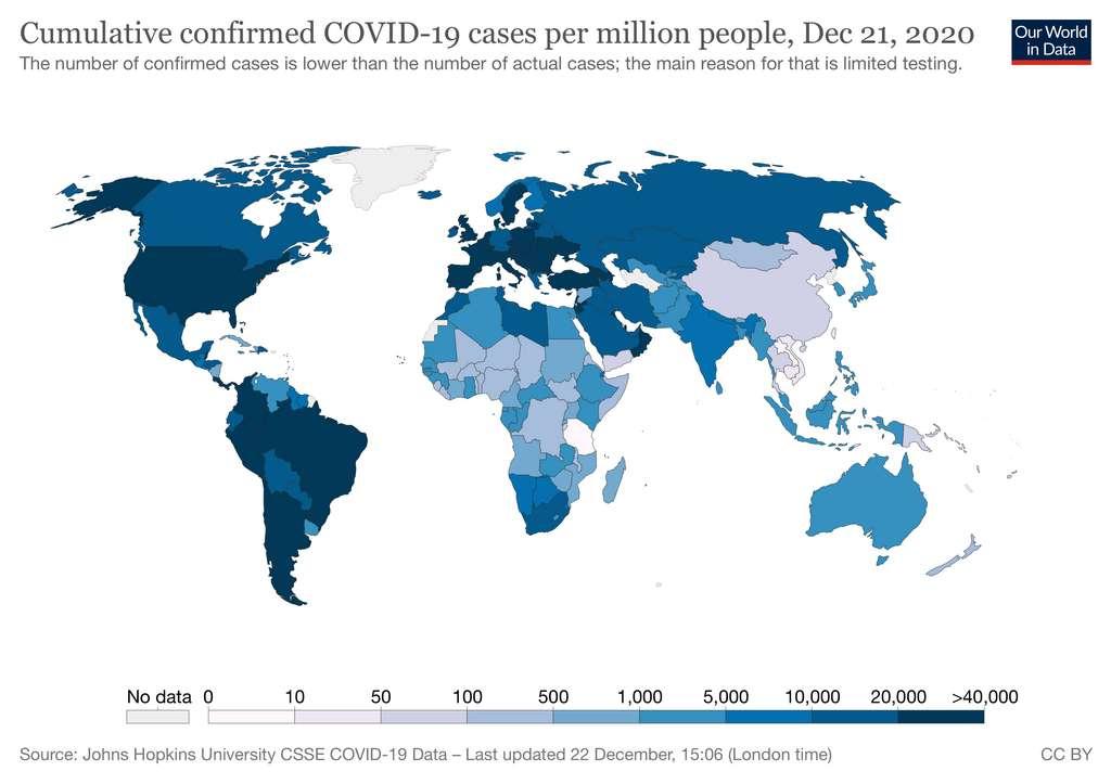 La France est l'un des pays qui teste le plus sa population. © Our World in Data