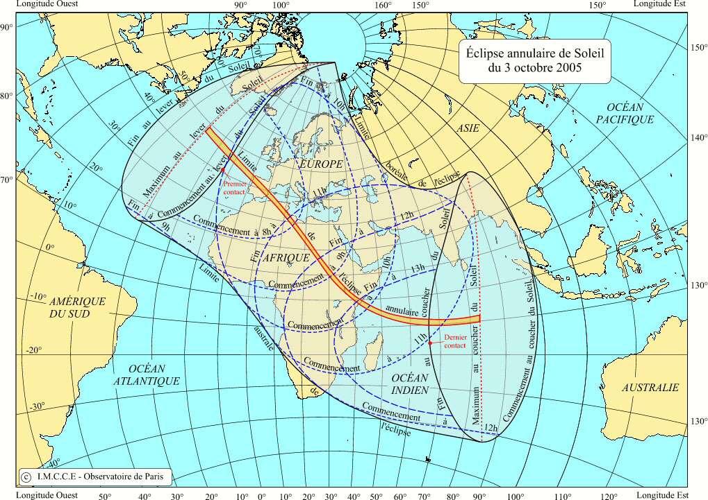 Eclipse annulaire du 3 Octobre 2005