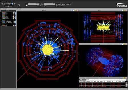 Cliquer pour agrandir. Un autre beam splash dans CMS mais le 20 novembre 2009. Crédit : Cern