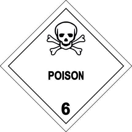 Dès la Préhistoire, l'Homme s'est servi des poisons pour se débarrasser de rivaux. Ci-dessus, le label désignant un produit toxique. © WB, Wikimedia Commons, CC by-sa 3.0