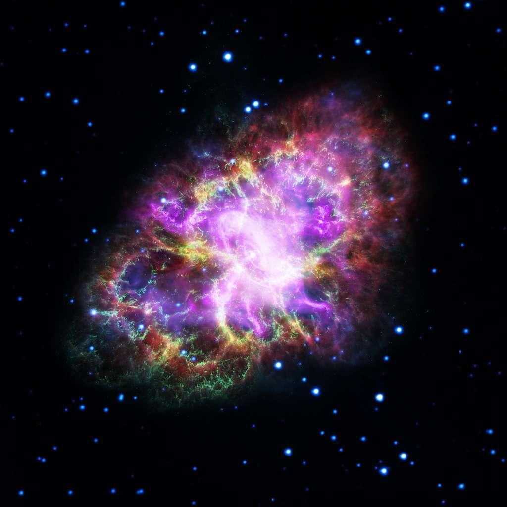 Image composite de la nébuleuse du Crabe, qui n'est autre que les restes incandescents de la supernova qui a explosé en 1054. © Nasa, ESA, J. DePasquale (STScI)