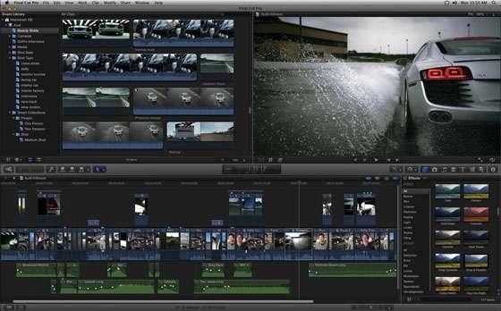 Final Cut Pro X est la référence du montage vidéo sur Mac grâce à ses hautes performances et son interface optimisée. © Apple inc.