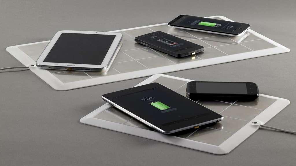 EnergySquare a conçu deux tailles de plateau de charge pouvant accueillir plusieurs terminaux simultanément. © EnergySquare