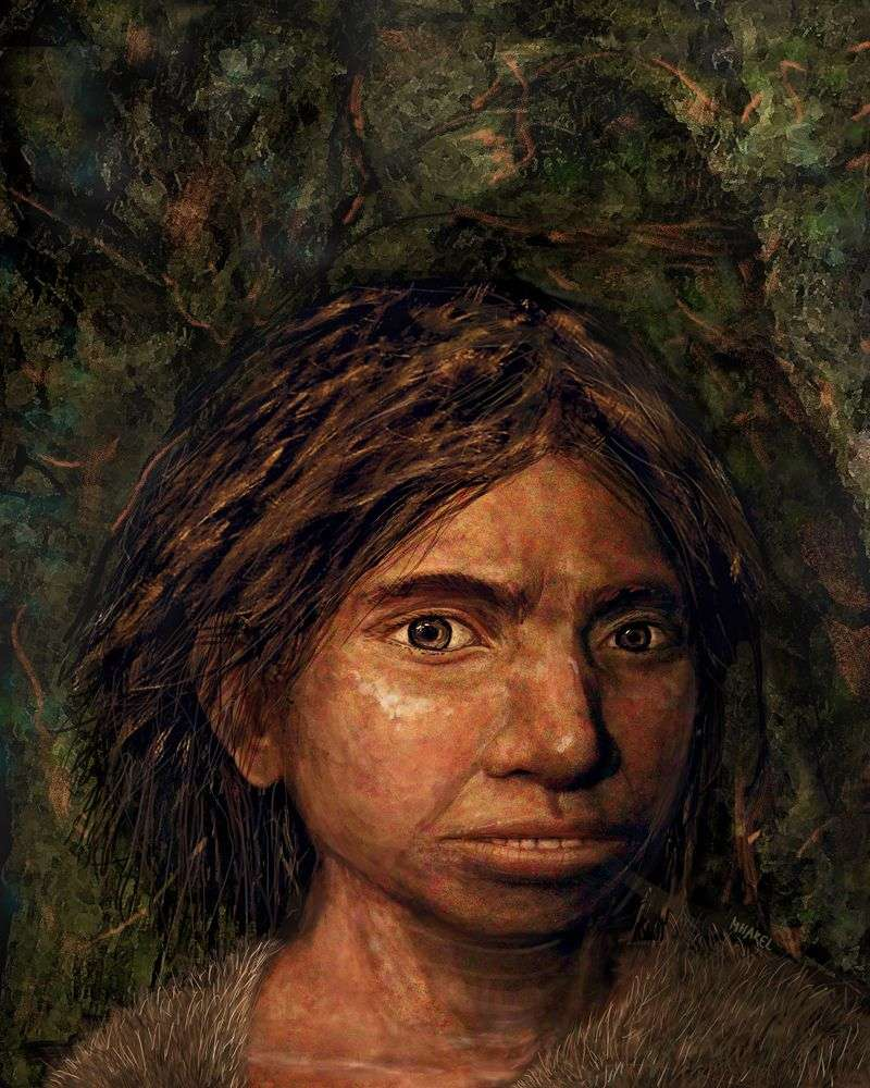 Le visage d'un Dénisovien a été reconstitué pour la première fois. Il s'agit d'une jeune fille d'environ 13 ans, morte depuis plus de 70.000 ans, dont les restes ont été retrouvés dans la grotte de Denisova dans l'Altaï, en Sibérie. © Maayan Harel