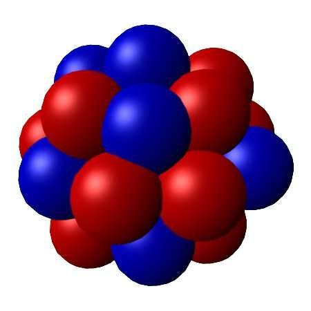 Représentation chimique d'un noyau atomique. © PerOx, Wkipédia, domaine public
