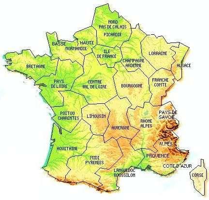 La région Aquitaine, aujourd'hui. © DR