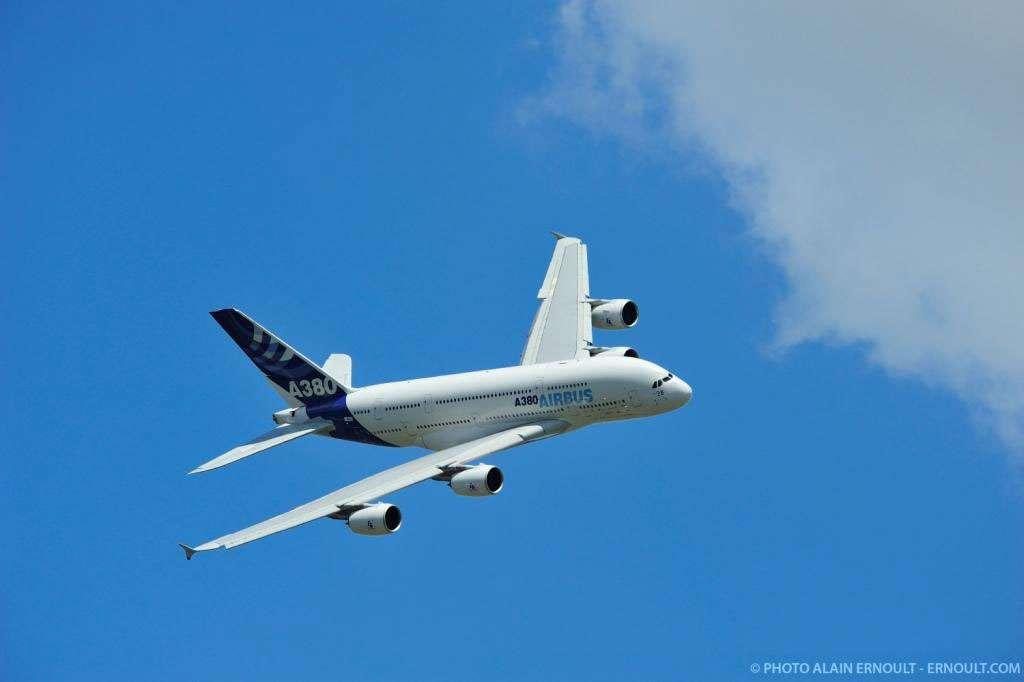 Un Airbus A380 en vol