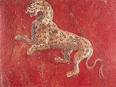 Fresque de Pompeï peinte avec du cinabre. © DR