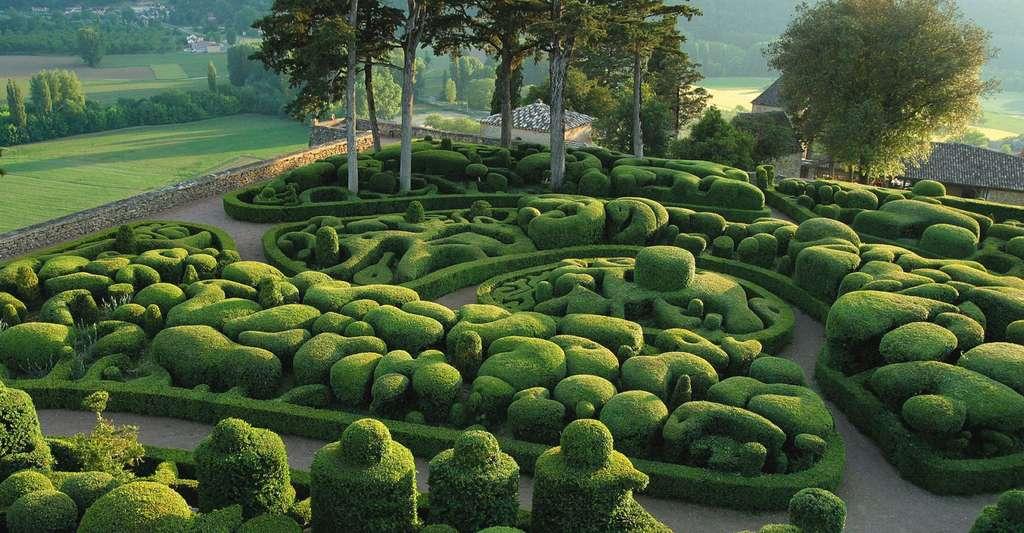 Les jardins suspendus de Marqueyssac sont une des merveilles de l'Aquitaine. Ici, le bastion de Marqueyssac. © Laugery, Marqueyssac, DR