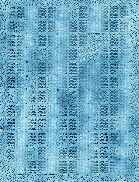 Voici à quoi ressemble la mémoire d'un kilo-octet organisée sur une structure à l'échelle atomique. Sur ce rectangle de 126 x 96 nanomètres, chaque petit carré représente un atome de chlore qui correspond à un bit de donnée. © Kavli Institute of Nanoscience, TU Delft