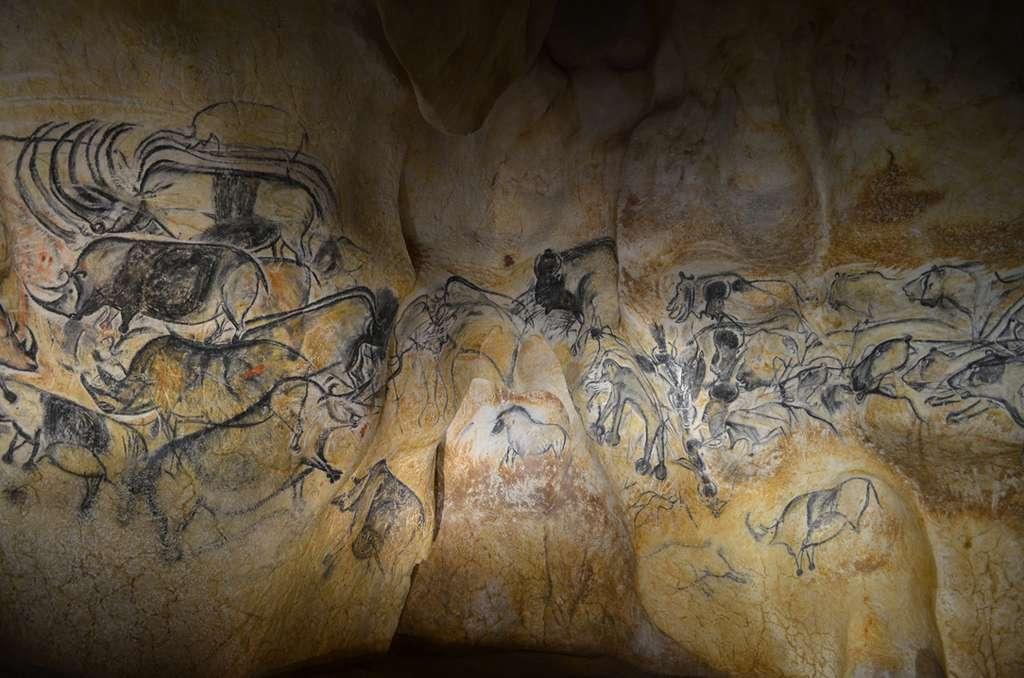Panneau de la Salle du Fond de la grotte Chauvet