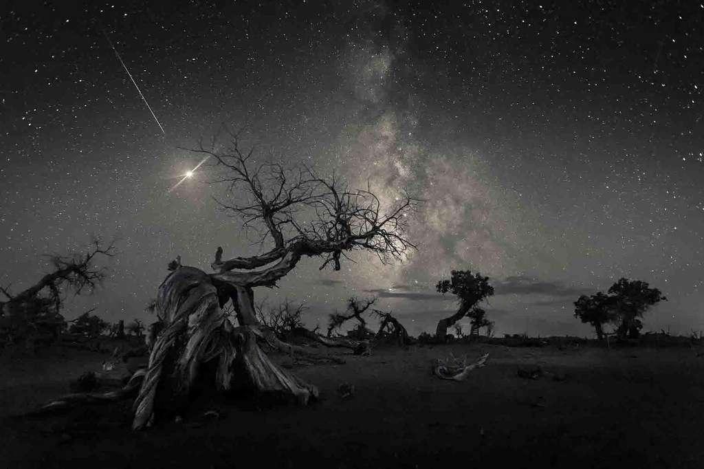 Ici, le photographe lauréat nous propose de «Traverser le ciel de l'histoire» (Across the Sky of History) pour relier notre planète à ses origines célestes. © Wang Zheng
