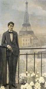 Romaine Brooks portrait de Cocteau 1914