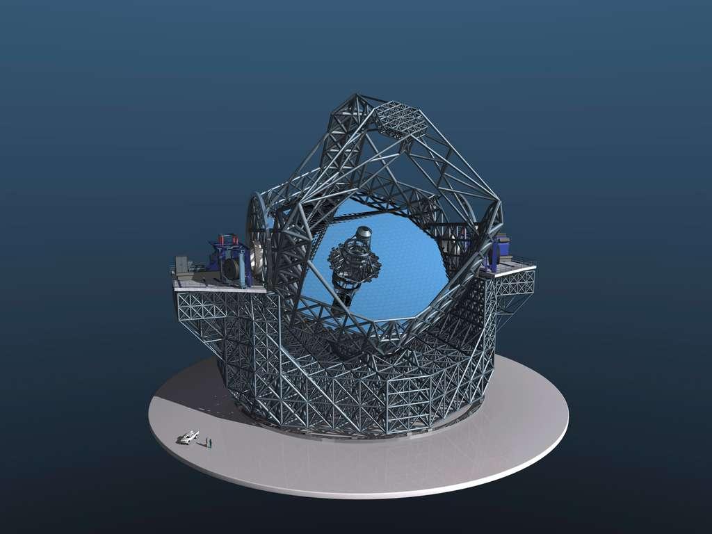 Vue en 3D de l'E-ELT