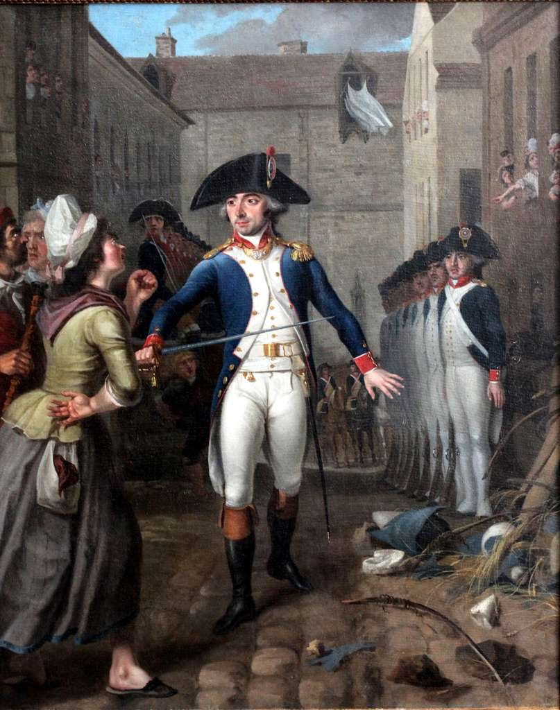 Officier de la Garde Nationale, pendant les émeutes parisiennes de janvier 1791 ; par Bizard, 1791. Musée de la Révolution française, château de Vizille (Isère). © Wikimedia Commons, domaine public.