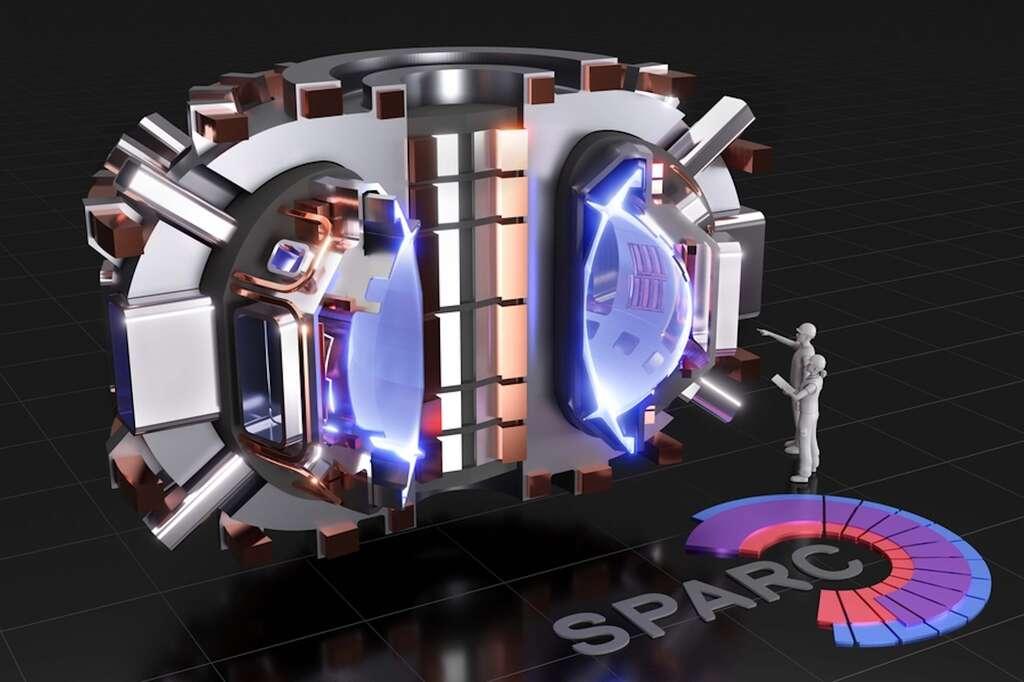 Sparc, c'est le démonstrateur de fusion nucléaire par confinement magnétique que les équipes du Commonwealth Fusion Systems et du Massachusetts Institute of Technology (MIT, États-Unis) sont en train de développer à partir de leur aimant supraconducteur à haute température grâce auquel ils viennent d'obtenir le champ magnétique le plus intense au monde. © T. Henderson, CFS, MIT-PSFC, 2020