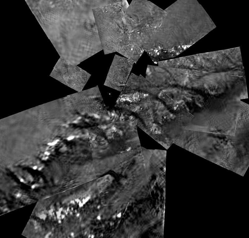 Titan : mosaïque par Huygens