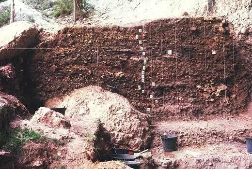 La fouille du Grand-Abri de Chateauneuf-les-Martigues a montré un passage direct du Mésolithique au Néolithique © Jean Courtin