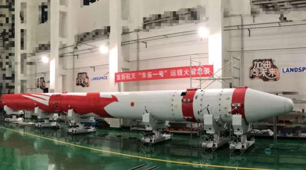 Le lanceur Zhuque-1, dérivé d'un missile balistique chinois, lancera un satellite scientifique pour le compte de la chaîne de TV CCTV. © Landspace