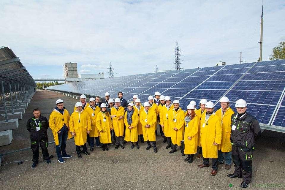 Avec ses 3.800 panneaux, la centrale solaire de Tchernobyl délivre une puissance de 1 MW. © Solar Chernobyl