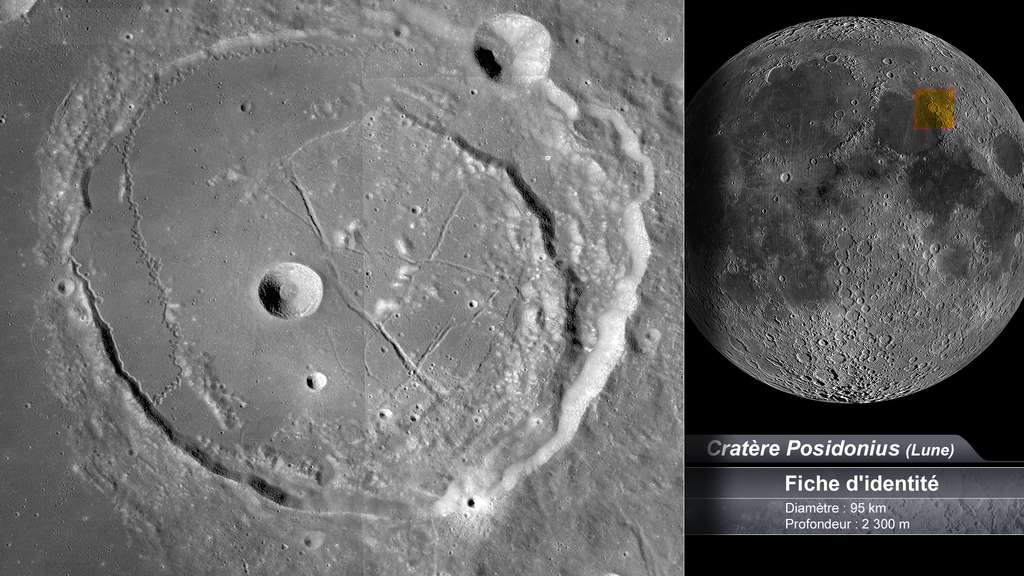 Le cratère Posidonius sur la Lune