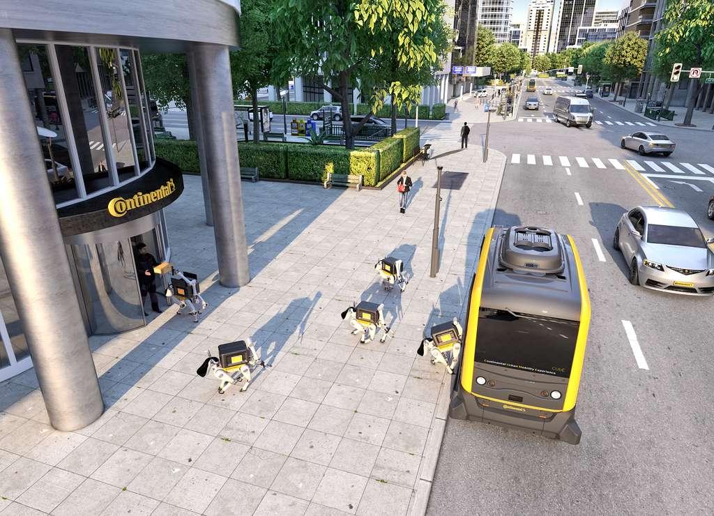 Continental veut faire livrer vos paquets par des chiens-robots. © Continental AG