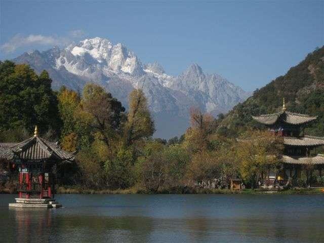 Le parc de l'étang du Dragon Noir, à Lijiang