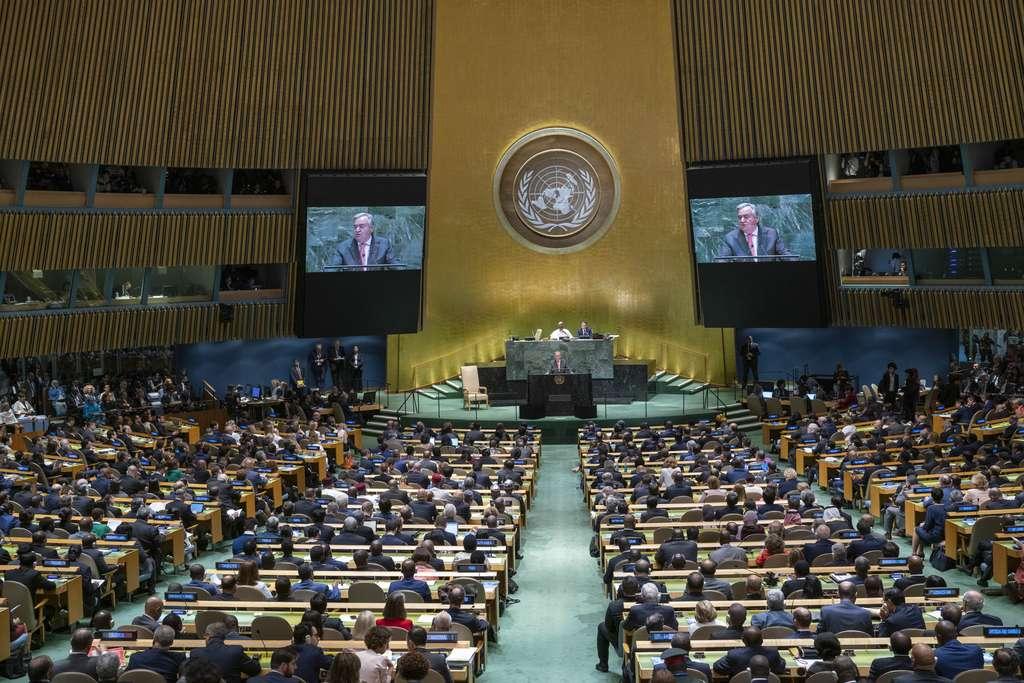 Discours d'ouverture d'Antonio Guterres au Sommet sur le climat, à New York. © Cia Pak, UN Photo