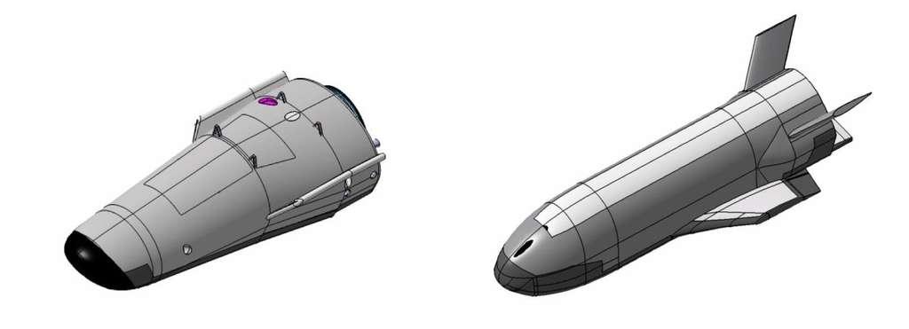 Deux configurations possibles à l'étude pour le futur véhicule du programme Pride. La forme du véhicule sera définie en concertation avec l'Esa et l'industriel qui sera choisi pour le construire. © Esa