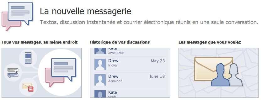 Pour l'instant, l'inscription au service de messagerie passe par une demande d'invitation. © Facebook