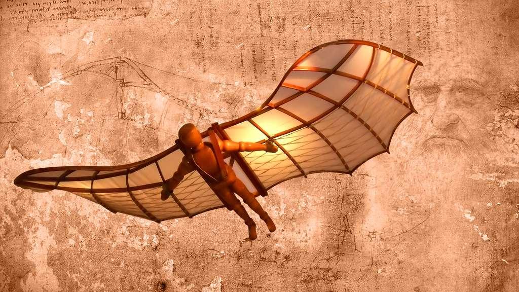 Léonard de Vinci et ses machines volantes