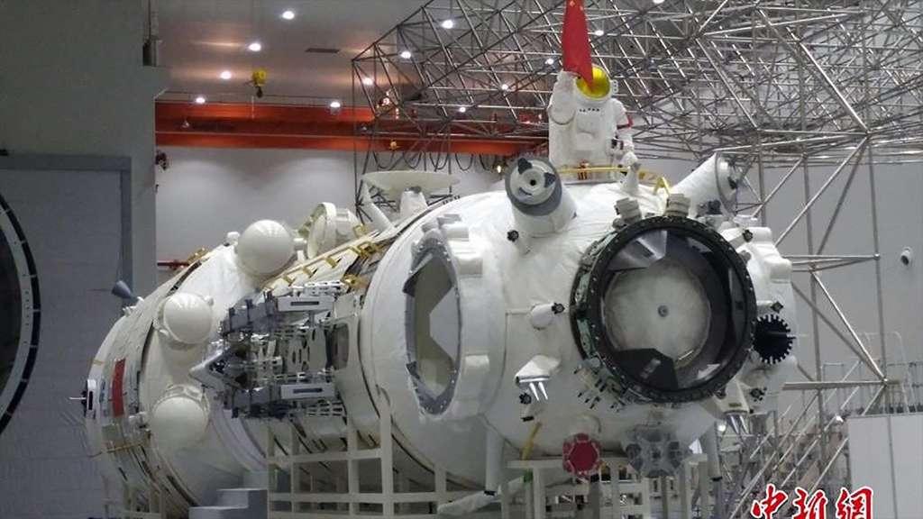 Modèle structurel du module Tianhe de la future spatiale chinoise. © CMSA