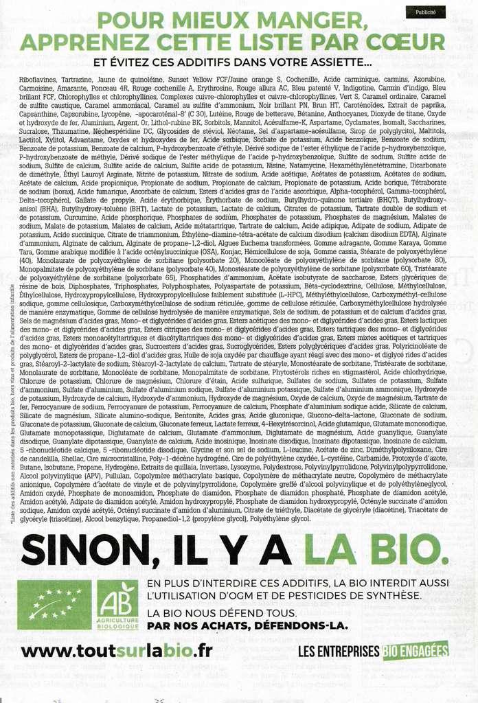 La liste des additifs « à éviter », selon les fabricants de produits bio, comprend de nombreux produits naturels et même bons pour la santé comme le lycopène ou les anthocyanes. © Synabio