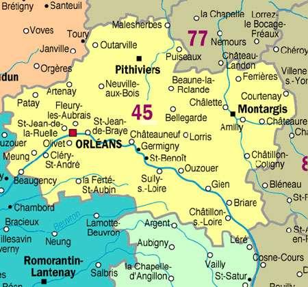 Le département du Loiret. © Domaine public