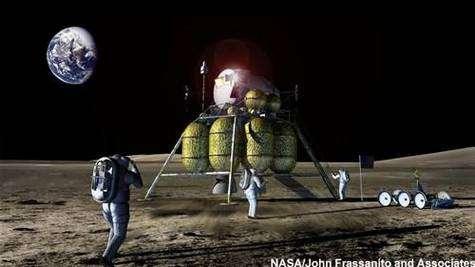 Alunissage vers 2020, selon la NASA. Crédit NASA.
