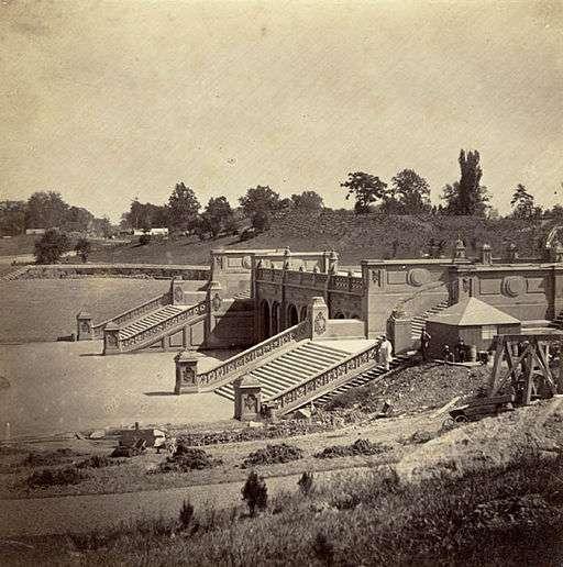 Central Park durant son aménagement en 1862. © Victor Prevost, Wikipedia, public domain