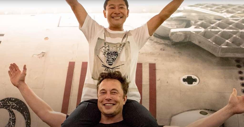 Yusaku Maezawa cherche une équipe pour l'accompagner dans son voyage autour de la Lune à bord du Starshio de SpaceX et Elon Musk. © Yusaku Maezawa, capture d'écran YouTube