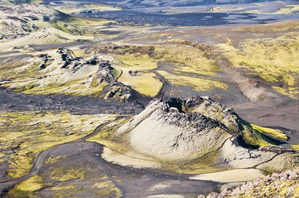 La fissure volcanique du Laki et ses Lakagígar, en Islande