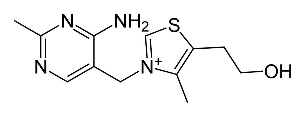 Formule chimique de la vitamine B1. © DR