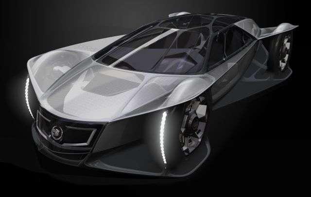 La Cadillac Area : sous la carrosserie en polymère, le mécanicien trouvera un moteur à air comprimé. Pour faire le plein, il suffit de gonfler, une opération plus rapide que la recharge des batteries d'une voiture électrique. © General Motors