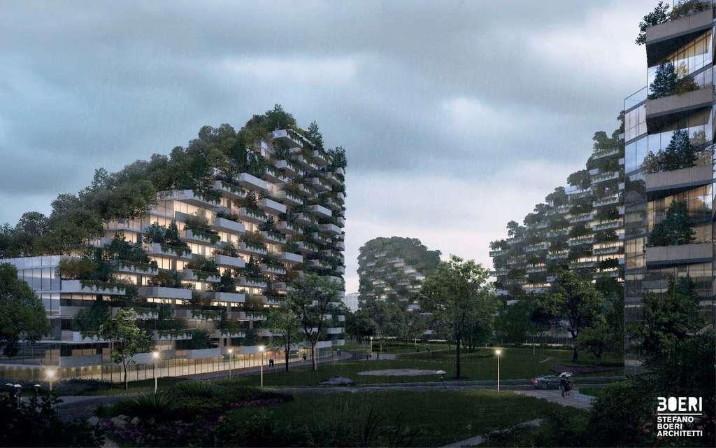À Liuzhou Forest City, il n'y aura pas un seul bâtiment qui ne sera pas couvert de végétation. © Stefano Boeri Architetti
