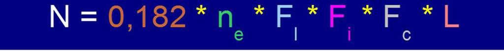 L'équation de Drake avec 13 % des étoiles entourées. © DR