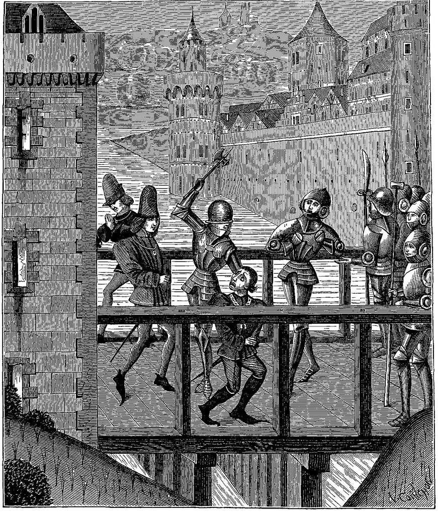 L'assassinat de Jean sans Peur par des partisans du dauphin de France va radicaliser les ducs de Bourgogne, qui vont désormais s'opposer frontalement aux Français. © DR