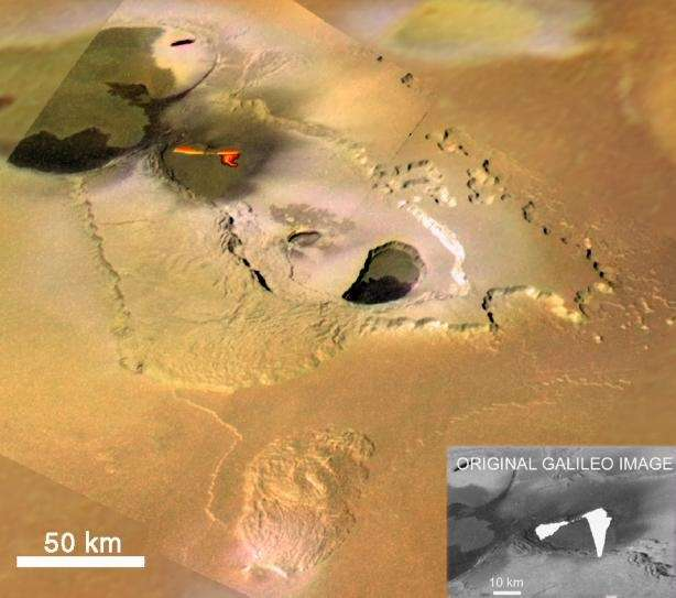 Fontaines de lave sur Io