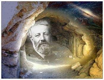 Jules Verne a pu réaliser son rêve de voyage au centre de la Terre... au travers de son roman. © DR